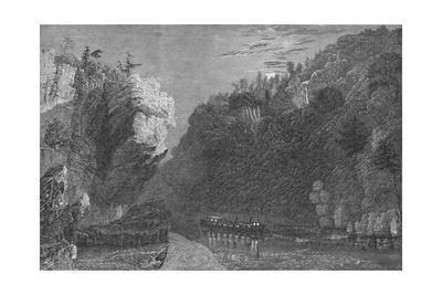 'Bluff on the Erie Canal, Near Little Falls', 1883