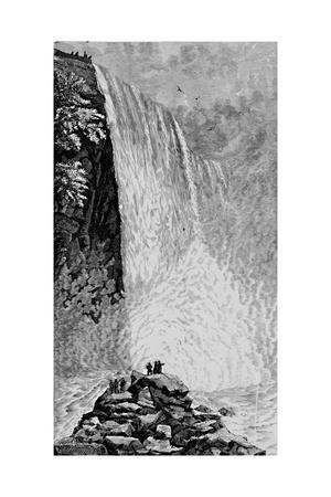 'On the Rocks below the American Falls', 1883