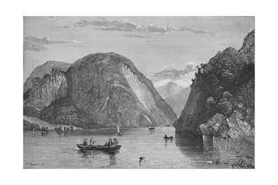 'Roger's Slide, Lake George', 1838, (1883)