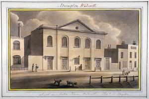 Acton Place Chapel, Southwark, London, 1825 by G Yates