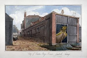 City of London Barge House, Bishop's Walk, Lambeth, London, 1825 by G Yates