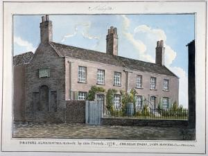Drapers' Almshouses, New Kent Road, Southwark, London, 1825 by G Yates
