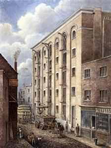 Hay's Wharf with Carts Being Loaded Up Outside, Bermondsey, London, 1834 by G Yates