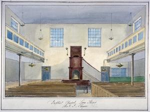 Inteiror View of Lion Street Baptist Chapel, Off New Kent Road, Southwark, London, 1826 by G Yates
