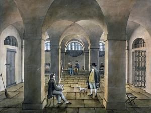 Interior View in Horsemonger Lane Prison, Union Road, Southwark, London, C1826 by G Yates