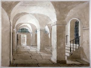 Interior View of a Hall in Horsemonger Lane Prison, Union Road, Southwark, London, 1832 by G Yates