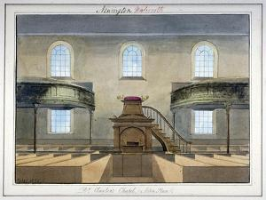 Interior View of Acton Place Chapel, Southwark, London, 1825 by G Yates
