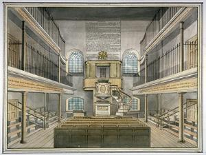 Interior View of the Chapel, Horsemonger Lane Prison, Union Road, Southwark, London, 1826 by G Yates
