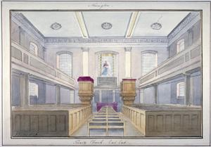 Interior View of the East End of Holy Trinity Church, Newington, Southwark, London, 1826 by G Yates