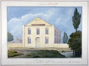 Portland Chapel, Walworth Common, Southwark, London, 1826 by G Yates
