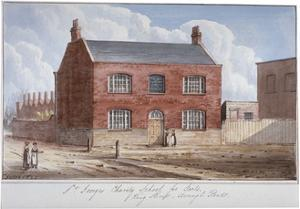 St George's Charity School for Girls, King Street, Southwark, London, 1825 by G Yates