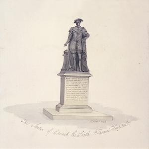 Statue of Edward VI in St Thomas's Hospital, Southwark, London, 1825 by G Yates