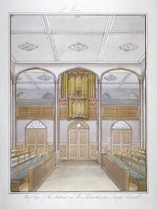 The Chapel in the Philanthropic Society Institution on London Road, Southwark, London, 1825 by G Yates