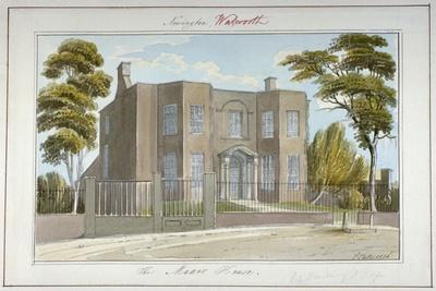 The Manor House, Newington, Southwark, London, 1826
