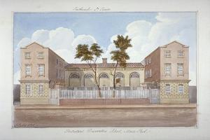 The Protestant Dissenters' School, Maze Pond, Bermondsey, London, 1825 by G Yates