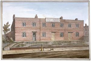 View of Drapers' Almshouses in St George's Fields, Southwark, London, 1825 by G Yates