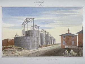 View of Gas Works in Pocock Street, Southwark, London, 1826 by G Yates