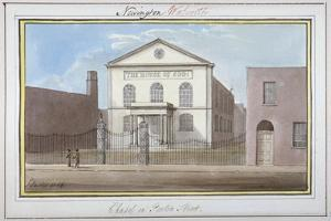 View of the Chapel in Penton Street, Southwark, London, 1825 by G Yates