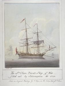 Warship the 'St Olave, 1826 by G Yates