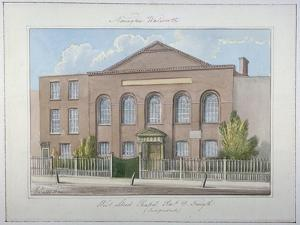 West Street Independent Chapel, Southwark, London, 1826 by G Yates