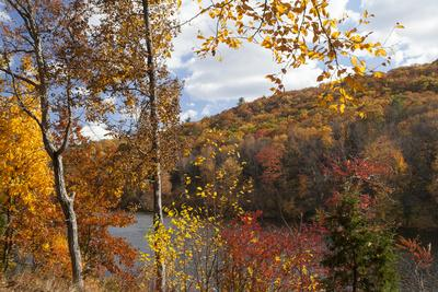 Fall Foliage Surrounds Hidden Lake