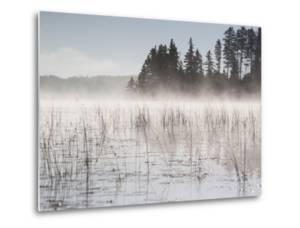Mist Rises Off Lake of the Woods at Dawn by Gabby Salazar