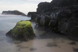 Mossy Rocks in the Surf by Gabby Salazar