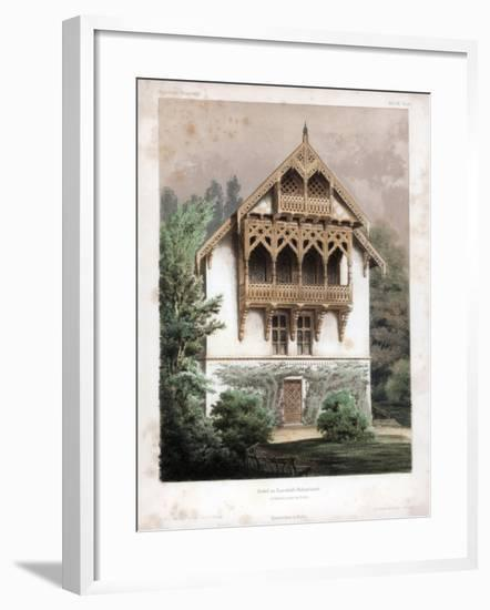 Gable on a Residential Building, Schonhausen, Near Berlin, Germany, C1850-Anst von W Loeillot-Framed Giclee Print