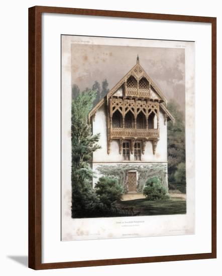 Gable on a Residential Building, Schonhausen, Near Berlin, Germany, C1850-Anst von W Loeillot-Framed Giclee Print