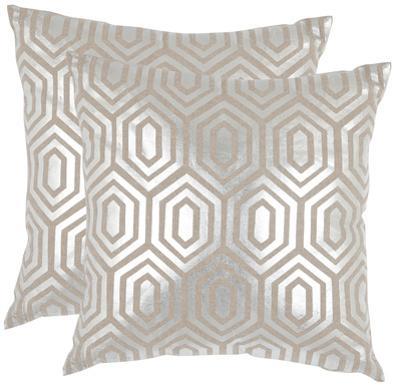 Gables Pillow Pair - Silver