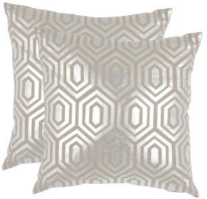 Gables Pillow Pair - Silver