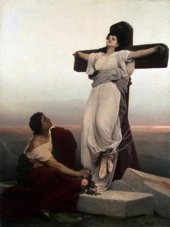 Christian Martyr on the Cross, (Saint Juli), 1865