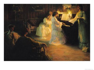 Young Girls at a Piano, 1906