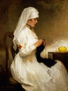 Portrait of a Nurse from the Red Cross by Gabriel Emile Niscolet