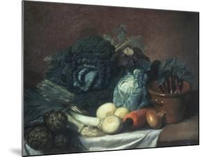 Still Life with Artichokes, Asparagus and Cabbage by Gabriel Germain Joncherie