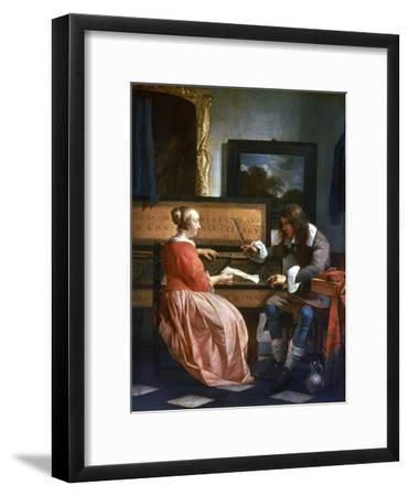 A Man and a Woman Seated by a Virginal, C1649-1667