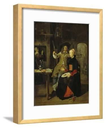 Portrait of the Artist with His Wife Isabella De Wolff in a Tavern, 1661