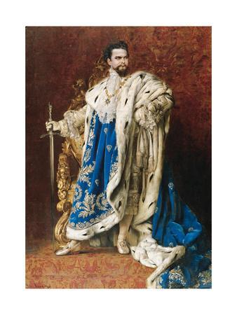 Ludwig II as the Grand Master of the Order of the Knights of St George, 1887