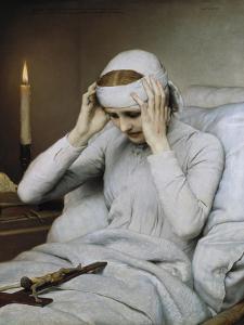The Ecstatic Virgin Katharina Emmerick, 1885 by Gabriel Von Max