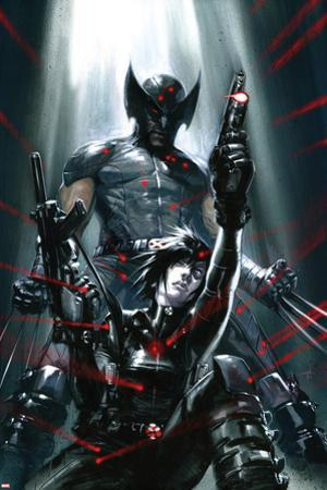 X-Force: Sex and Violence No.3 Cover: Domino and Wolverine Posing by Gabriele DellOtto