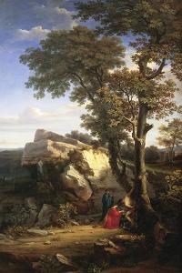 Landscape with St Sebastian Cured by the Holy Women, 1851 by Gabriele Smargiassi