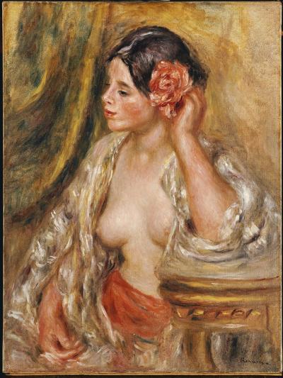 Gabrielle a Sa Coiffure, 1910-Pierre-Auguste Renoir-Giclee Print
