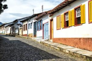 Colourful Streets, Mariana, Minas Gerais, Brazil, South America by Gabrielle and Michel Therin-Weise