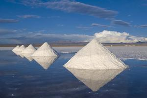 Salt Cones, Salar De Uyuni, Potosi, Bolivia, South America by Gabrielle and Michel Therin-Weise
