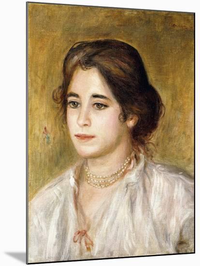 Gabrielle Au Collier, 1906-Pierre-Auguste Renoir-Mounted Giclee Print