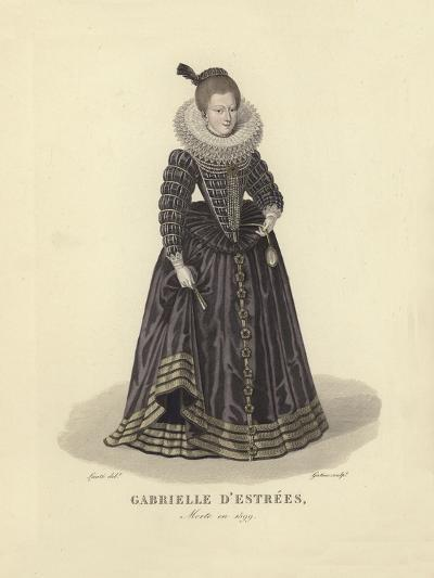 Gabrielle D'Estrees, Mistress of King Henry IV of France--Giclee Print