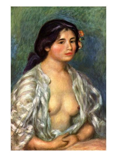 Gabrielle with Open Blouse-Pierre-Auguste Renoir-Art Print