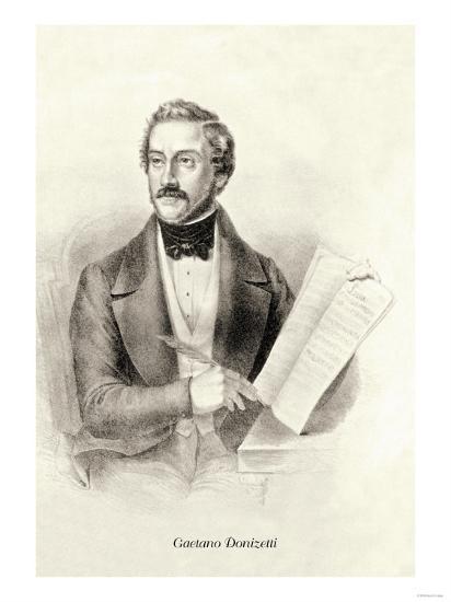 Gaetano Donizetti--Art Print