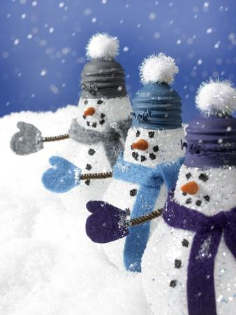 Snowmen in a Row