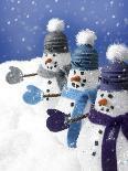Snowmen in a Row-Gaetano-Photographic Print